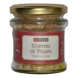 Chicken rillettes with thyme and nettle