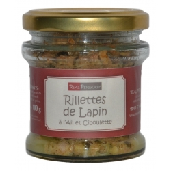 Rabbit rillettes with garlic and chive