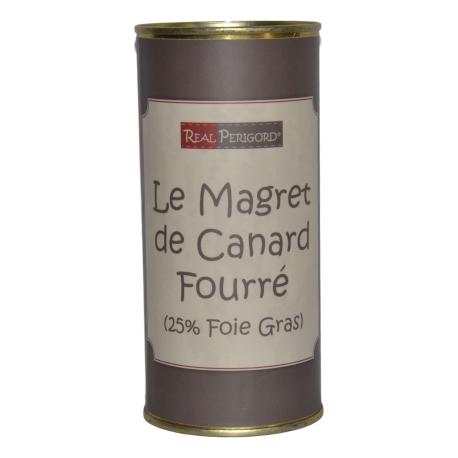 Magret de pato relleno con foie gras de pato