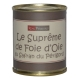 Supreme of goose liver with saffron of Perigord