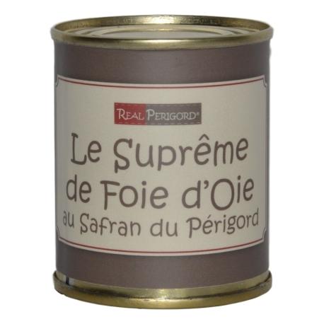 Supreme de higado de ganso con azafrán del Périgord