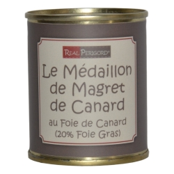 Medallion of duck magret with duck foie gras