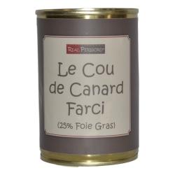Cuello de pato rellenocon foie gras de pato
