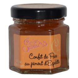 Pears confit with Espelette chili