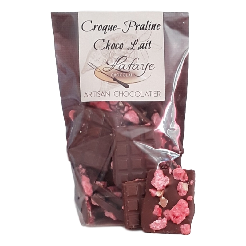 Croques pralines roses chocolat lait real perigord for Envoyer des roses